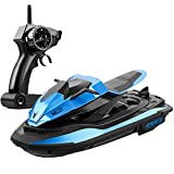 MOSTOP RC Boat 2.4Ghz Remote Control Racing Boat Mini RC Speedboat with Dual Motor Low Battery Alarm Remote Control Boats for Kids Adults Christmas Birthday Gift (Blue)