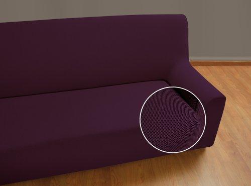 Velfont – Bielastischer Sofabezug Universal - Sessel - Lila - verfügbar in verschiedenen Größen und Farben
