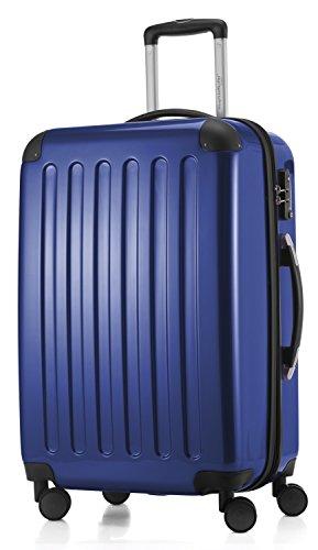 HAUPTSTADTKOFFER - Alex - 4 Doppel-Rollen Hartschalen-Koffer Koffer Trolley Rollkoffer Reisekoffer, TSA, 65 cm, 74 Liter, Dunkelblau
