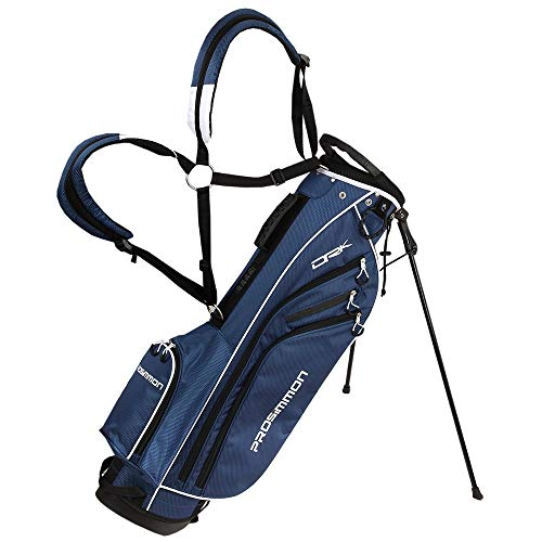 "PROSiMMON Golf DRK 7"" Lightweight Golf Stand Bag with Dual Straps Blue/White"