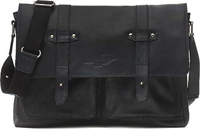 REBELS & LEGENDS, Cntmp, cuir, porte-documents, sacoche de travail, format A4, sacs à main, besaces, sacs de loisir, sacs en bandoulière, 43 x 28 x 7 cm