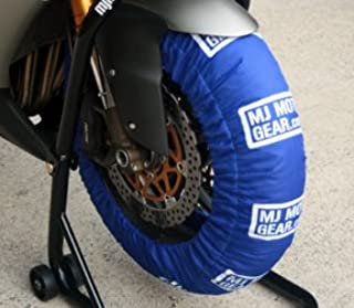 Motorcycle Tire Warmer Set, Single Temp, Fits 180 to 200 Rr / 120 Fr, Blue
