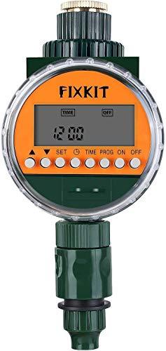 Fixkit Programmatore di Irrigazione, Timer con Sensore Pioggia, Giardino Timer Irrigazione Automatico Programmatore Irrigazione Fino a 30 Giorni, per Giardino, Terrazzo, Prato e Fiori, IP68