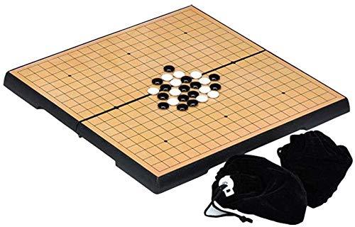 J & J 32x32cm Internacional Go Set Go Junta Juego de Mesa Plegable magnético IR Junta Negro y Negro de ajedrez