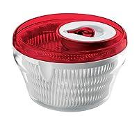 guzzini centrifuga insalata kitchen active design, rosso chiaro, ø28 x h18 cm