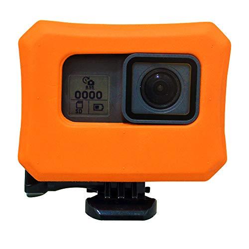 Coque Flottante pour GoPro Hero 7 avec vis Ultra-Flottante Flottante pour Go Pro Hero 6/5 & 2018 Sports Nautiques Natation Plongée - Orange