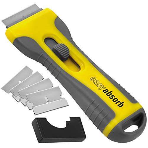 Easy Absorb P-10014 Universele schraper voor keramische kookplaat, geel/grijs