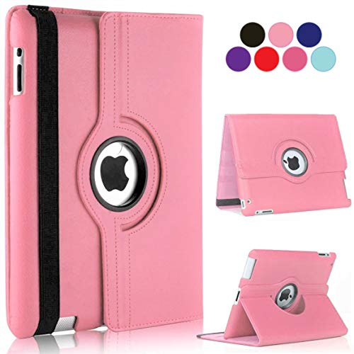 Vultic iPad Pro 12.9 Case - 360 Degree Rotating Stand [Auto Sleep/Wake] Folio Leather Cover Case for Apple iPad Pro 12.9 inch [2nd Gen 2017] & [1st Gen 2015] (Light Pink)