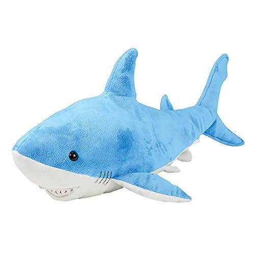 The Dreidel Company Plush Blue Shark, Animal Den with Hard Plastic Eyes, 23' Long