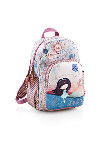 Anekke Mochila Doble Compartimento Liberty, 44 cm, Multicolor