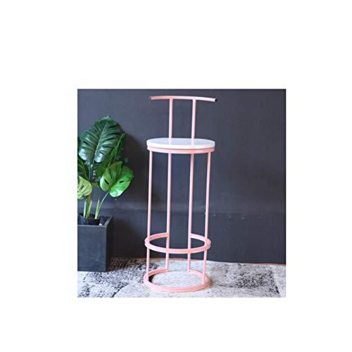 LRZS-Furniture Long café créatif Simple de Magasin de thé de Lait de Table adapté aux Besoins du Client avec la Table à Hautes Jambes et la Table et la Chaise étroite (Couleur : Pink)