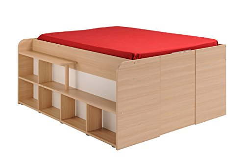 Parisot 1531lico Bett – Space UP Eiche Baltimore/weiß Holz