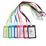 STOBOK Badge di identificazione Porta badge identificativo con cordino, confezione da 9...