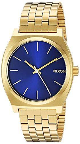 Nixon Time Teller, Nixon Reloj Hombre Dorato con Esfera BLU - Acero Inoxidable
