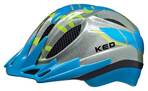 KED Meggy S/M lightblue K-Star - 49-55 cm - inkl. RennMaxe Sicherheitsband - Fahrradhelm Skaterhelm MTB BMX Kinder Jugendliche