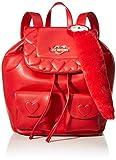 Love Moschino Nappa Pu, Borsa a Zainetto Donna, Rosso (Rosso), 29x14x30 cm (W x H x L)