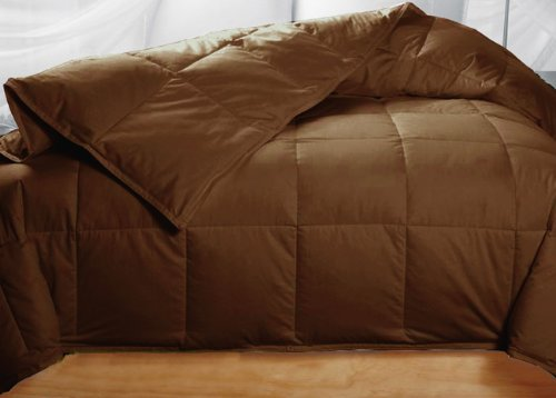 Chocolate Colored Feather Down Comforter - King Size