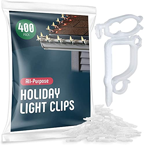 All-Purpose Holiday Light Clips [Set of 400] Christmas Light...
