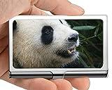 Titular de la tarjeta del nombre del negocio Cartera, tarjetas Caja de la tarjeta de visita del titular de la tarjeta de visita del panda gigante (acero inoxidable)