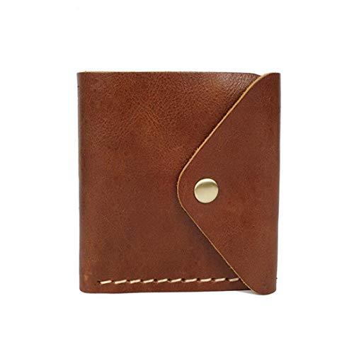 ZHAOXQ Portafoglio Uomo Premium Leather Wallet, RFID Block, Slim, Bi-Fold, Corto, Portafoglio Tasca Frontale Uomo (Color : Brown2)
