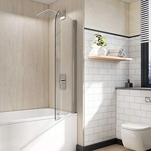 EMKE 30 in. W x 55 in. H Bathtub Shower Door | 1/4