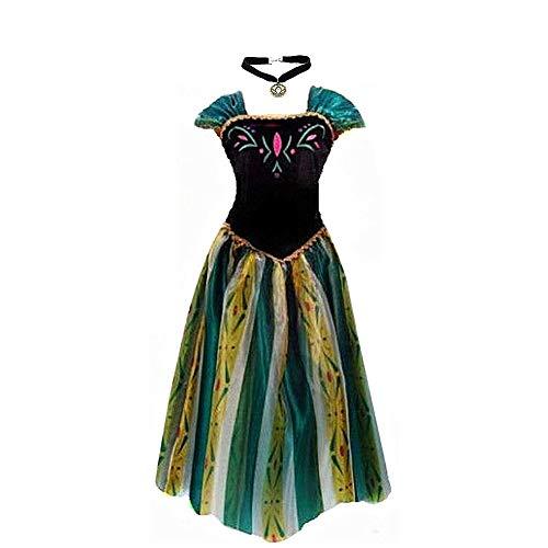 Big-On-Sale Damen Prinzessin Erwachsene Anna Elsa Krönungskleid-Kostüm Cosplay M Größe für US 6-8 Grün