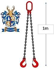 BEST4FORST Cadena colgante de 1 m, 2 cuerdas, alta resistencia (1 m, 2 cuerdas)