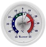 Adhesivo de termómetro analógico refrigerador Redondo bimetálico. Pantalla de Temperatura termómetro frigorífico + / - 50 ° c