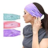 myMareCo Equestrian Headbands for Women, Under Riding Helmet Bands, Sportswear Wide Hair Wrap Suitable for Use with Bike Helmets, Yoga & Hiking (3 Pack)