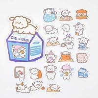 40ピースかわいいクリームのウサギのクマの装飾ステッカースクラップブッキングスティックラベル日記アルバムステッカーかわいい韓国の文房具の女の子のギフト