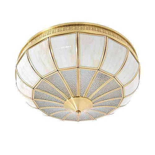 XUSHEN-HU Luz de cúpula de oro de soldadura de estaño cobre lámpara de techo lámpara redonda araña balcón corredor porche comedor sala estudio dormitorio decoración del hogar luces colgantes
