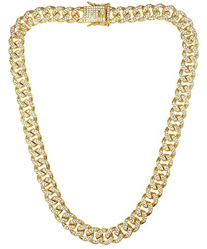 喜平 ネックレス メンズ SBG ブランド CZ チェーンネックレス キューバン ゴールド 45cm