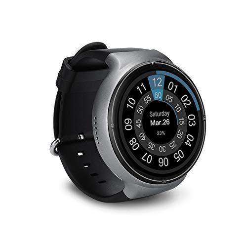 HN Smart Sport Watch iOS E ANDROID2G + 16G Luce E Schermo Intero Rotonda 3G Card Sleep Pagamento GPS Posizionamento WiFi Frequenza Cardiaca,Silver