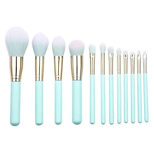 Minkissy Pinceau de Maquillage en Nylon Pinceaux de Maquillage Ensemble Pinceaux en Poudre Contour Pinceaux de Maquillage Pinceaux de Mélange Pinceaux de Maquillage Des Yeux 12Pcs
