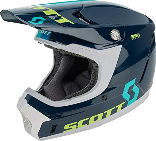 Scott 350 Evo Plus Track MX Enduro Motorrad/Bike Helm blau/weiß 2020: Größe: XL (61-62cm)