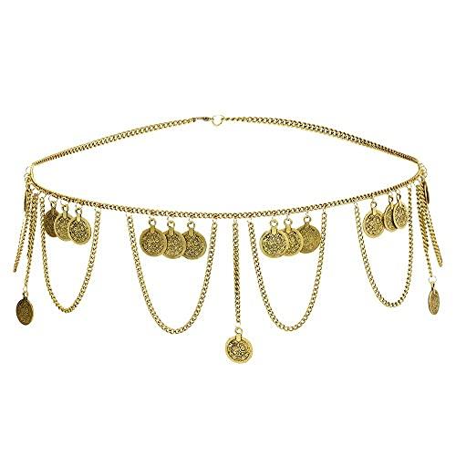 DYXYH Cinturón de vestir de lañas de la moneda india para las...