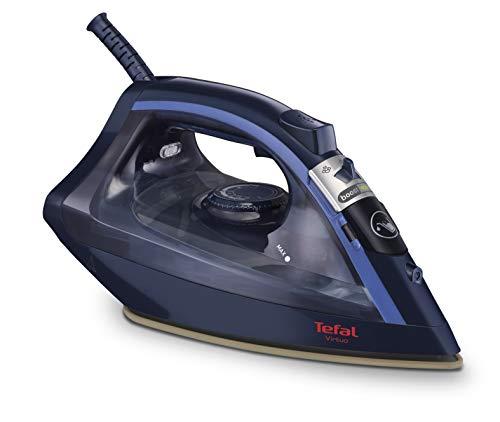 Tefal Virtuo FV1739E0 - Plancha de vapor sistema antigoteo, salida continua de vapor 24 g/min, golpe de vapor 90 g para eliminar las arrugas más difíciles, 2000 W