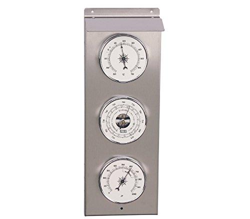 RELOJESDECO Außen-Wetterstation, Barometer und Außen-Wetterstation, 35 cm, Thermometer, Hygrometer, Barometer.