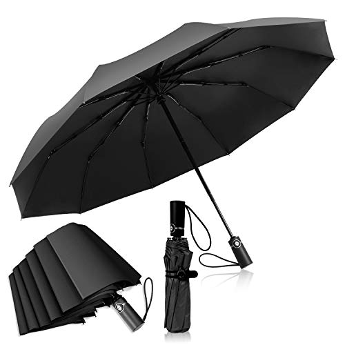 ADORIC Schirm Golfschirm automatischer Regenschirm Umbrella Sturmfest Taschenschirm Schützt vor Regen, Wind und Sonne,Unisex für Damen und Herren,schwarz,33 * 6 * 6 cm.