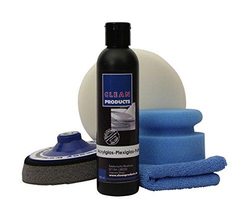 CLEANPRODUCTS Kit de polissage en plexiglas pour verre acrylique - Polissage pour plastique, verre acrylique, plexiglas.