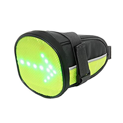 Bolsa de sillín LED para ciclismo, duradera, recargable, LED, con indicador de dirección, impermeable para ciclismo, camping, senderismo, para una conducción segura