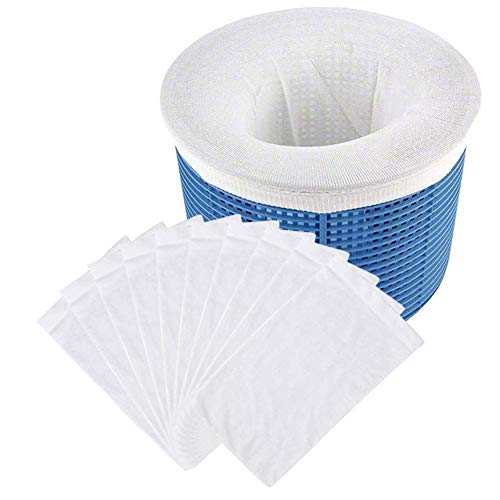 Paquete de 10 calcetines de piscina perfectos para ahorrar filtros, cestas y desnatadores. El calcetín ideal para proteger tu piscina interior o sobre el suelo