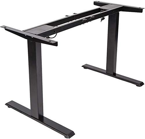 TOPSKY Elektrisch Höhenverstellbarer Schreibtisch mit Zwei Motoren/Kollisionschutz/Memory Funktion (Schwarz)