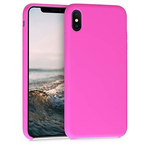 kwmobile Hülle kompatibel mit Apple iPhone XS Max - Handyhülle gummiert - Handy Case in Magenta