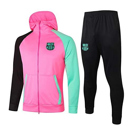 SSUU Bǎrcělǒnǎ Jerseys de fútbol con Sudaderas con Sudaderas Conjunto De Fútbol Grǐězmǎnn Entrenamiento Deportivo Sportswear Chaqueta Pantalones Juego de Trajes de chánda XXL