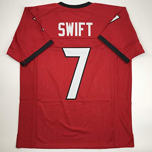 Unsigned D'Andre Swift Georgia Red Custom Stitched College Football Jersey Size Men's XL New No Brands/Logos