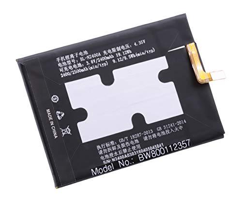 vhbw Li-Polymer Akku 2300mAh (3.8V) für Handy Smartphone Telefon Gionee F105, Dual SIM, TD-LTE Dual SIM, Elson Mobistel Cynus F10 wie BL-N2400A.
