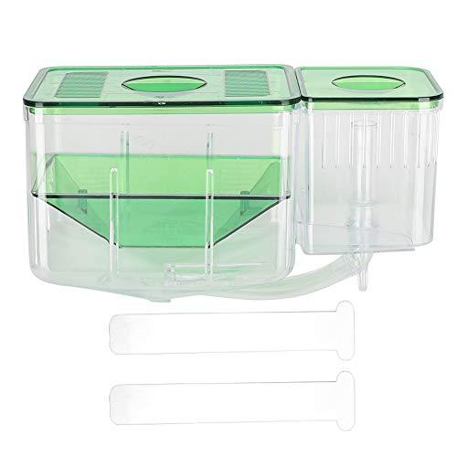 Homeriy Fischzüchter Doppelschicht-Aquarium Aquarien Fischisolationsbox Fisch Inkubator Aquarium Zubehör für Verletzte Kleine Fische