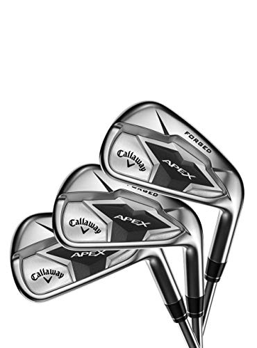 Callaway Golf 2019 Apex Irons Set, Right Hand, Steel, Stiff, 4-9 Iron, PW, AW