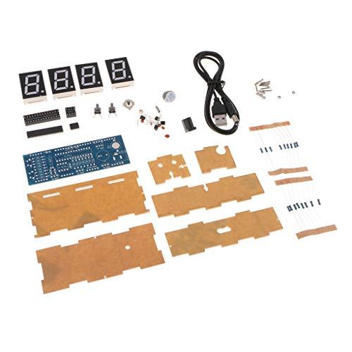 Kits De Reloj Digital De 4 bits con PCB para La Práctica De Soldadura Aprendizaje De Electrónica - Verde